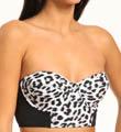 Hurley Leopard Underwire Bustier Swim Top HU41114