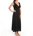 Natori Sleepwear Boudoir Solid Slinky Knit With Lace Long Gown U73003