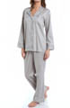 Natori Sleepwear Cotton Sateen Notch Pajama Set V76042