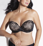 Curvy Couture Strapless Sensation Multi-Way Push Up Bra 1211