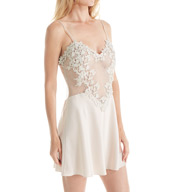 Flora Nikrooz Showstopper Charmeuse Chemise With Venise Lace 8060