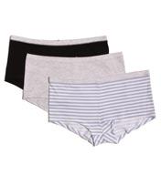Hanes ComfortSoft Cotton Stretch Boyshort Panty - 3 Pack ET49