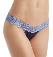 Hanky Panky Heather Jersey Trim Low Rise Thong 681501