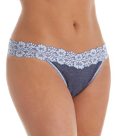 Hanky Panky Heather Jersey Trim Original Rise Thong 681801