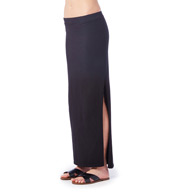 Michael Stars Cotton Lycra Maxi Skirt with High Slit 1011