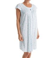 Miss Elaine Silky Knit Short Gown 209426
