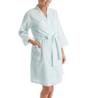 Miss Elaine Seersucker Short Robe 309606