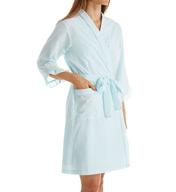 Miss Elaine Seersucker Short Robe 309616