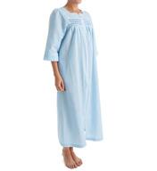 Miss Elaine Seersucker Long Zip Robe 869626