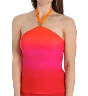 Lauren Ralph Lauren Island Ombre High Neck Wireless Tankini Swim Top LR55G89
