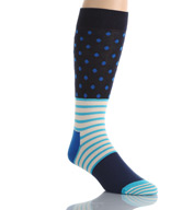 Happy Socks Combed Cotton Stripe and Dots Crew Sock SD01-066